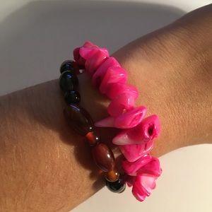Pink and brown bracelet